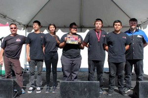 The First Place winners from Rancho Alamitos HS
