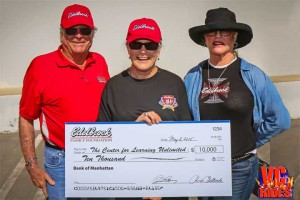 Vic and Christi Edelbrock Presenting the check for $10,000 to CLU